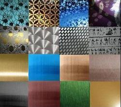 Stainless Steel Designer, Embossed, Etched, Colored sheets